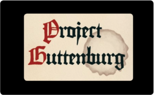 button to access project Guttenberg